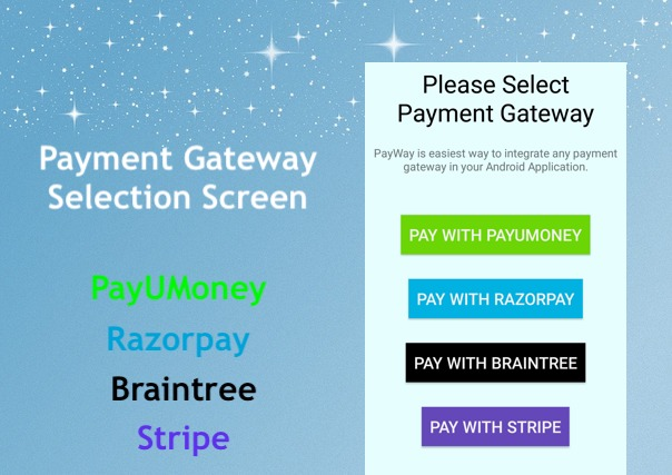 PayWay - Payment Gateway Android App Source Code